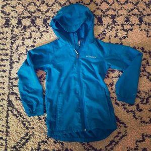 Columbia Boys Rain Jacket Sz Medium
